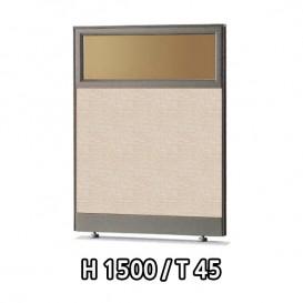 우드파티션/H1500[T45/상단유리]