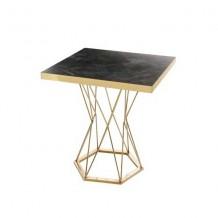 T036 테이블(골드프레임) 블랙