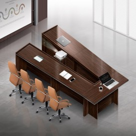 흑단 클레버 연결식 테이블(V자형)